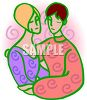 Lesbian Couple Hugging clipart