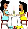 African American Lesbians on a Date clipart