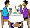 African American Homosexual Couple on a Date clipart