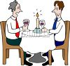 Homosexual Men on a Date clipart