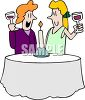 Homosexual Women on a Date clipart