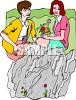 Lesbian Couple Picking Flowers clipart