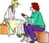Female Journalist Interviewing a Girl clipart