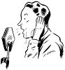 Vintage Radio Announcer clipart
