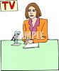 Female Television News Anchor clipart