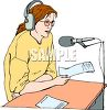 Female Radio News Announcer clipart
