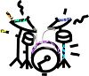 Simple Drum Set clipart