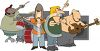Cartoon of a Rock Group clipart