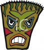 Scary Hawaiin Tiki Mask  clipart