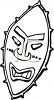 Black and White Tiki Mask  clipart