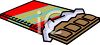 Partially Unwrapped Dark Chocolate Bar clipart