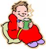 Child Drinking Hot Chocolate clipart