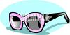 Pink and Black Shades clipart