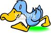 Cute Little Blue Duck clipart