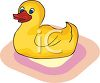 Rubber Ducky Toy for Bathtime clipart