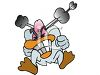 Really Mad Duck clipart