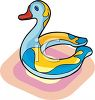 Inflatable Duck Toy for Swimming clipart