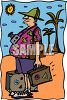 Middle Age Man on a Tropical Vacation clipart