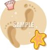 Footprints in the Sand clipart