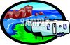 Camp Trailer at the Beach clipart