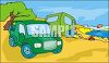 Camping on the Beach clipart