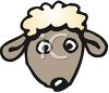 Baby Sheep Face clipart