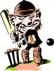 Guy Playing Cricket clipart
