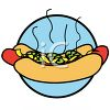 Chicago Style Hot Dog with Pickles clipart