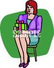 Woman with a Gift clipart