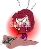 Angry Woman Yelling Into a Phone clipart