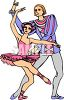 Ballerina and Her Partner Performing in Costume clipart