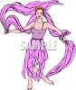 Ballerina Dancing with Scarves  clipart
