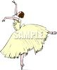 Prima Ballerina Wearing a Pale Yellow Costume clipart