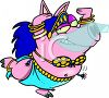 Belly Dancing Pig clipart