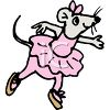 Mouse Wearing a Tutu clipart