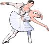 Ballet Dancer and Her Partner clipart