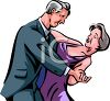 Elderly Man Dipping His Dancing Partner clipart