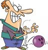 Bowler Dropping Bowling Ball on Foot clipart