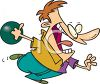 Cartoon Bowler Bowling clipart