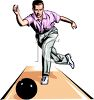 Professional Bowler Bowling clipart