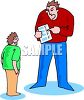 Dad Yelling at His Son for a Bad Report Card clipart