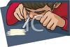 Teen Boy Snorting Cocaine clipart