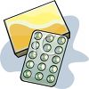 Bubble Pack of Pills clipart