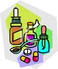 Various Types of Medicines clipart