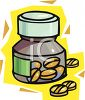 Small Prescription Bottle and Pills clipart