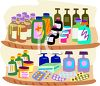 Medications on a Shelf in a Pharmacy clipart