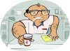 Cartoon of a Pharmacist clipart