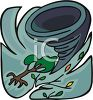 Tornado Destruction clipart