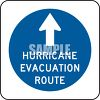 Hurricane Evacuation Route Sign clipart