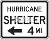 Hurricane Shelter Sign clipart